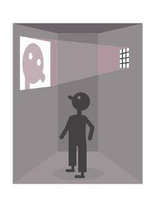 A prisoner sees his reflection - Cartoon by Christoph Niemann