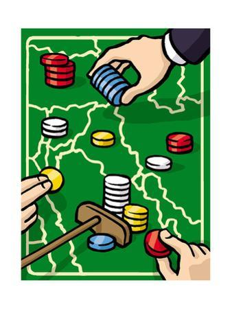 Boundries are played with poker chips - Cartoon by Christoph Niemann