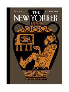 The New Yorker Cover - August 9, 2004 by Christoph Niemann