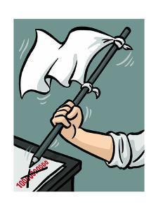 Waving the white flag - New Yorker Cartoon by Christoph Niemann