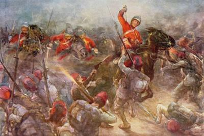 The Charge of the Drury Lowes Cavalry at Kassassin, August 28th, 1882, Illustration from 'British…