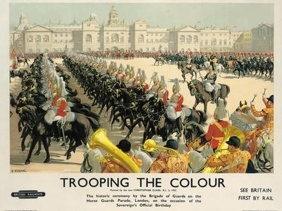 Trooping the Colour, Poster Advertising British Railways, c.1950