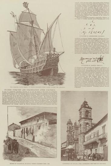 Christopher Columbus and the Fourth Centenary of the Discovery of America--Giclee Print