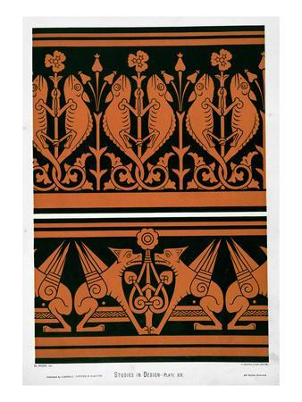 Plate Xiv from 'studies in Design', C.1874-76 (Litho)