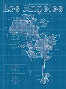 Los Angeles Artistic Blueprint Map by Christopher Estes
