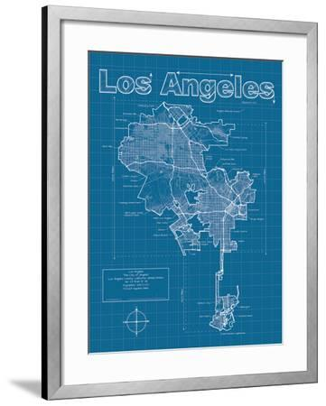 Los Angeles Artistic Blueprint Map