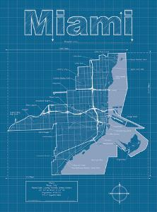 Miami Artistic Blueprint Map by Christopher Estes