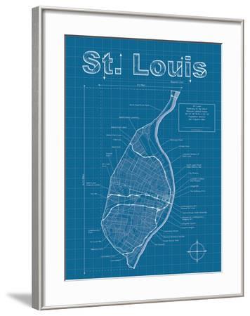 St Louis Artistic Blueprint Map