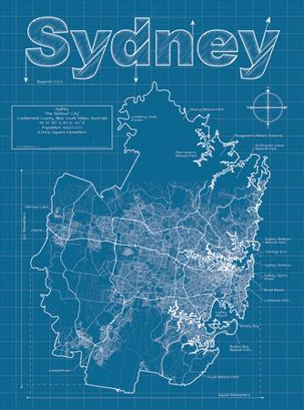 Sydney Artistic Blueprint Map