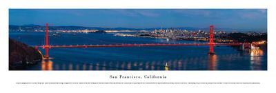 San Francisco - Golden Gate at Night - Unframed