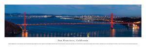 San Francisco - Golden Gate at Night - Unframed by Christopher Gjevre