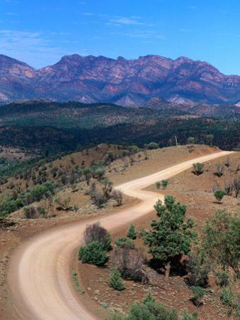 Dirt Road Winding Through Range, Flinders Ranges National Park, Australia
