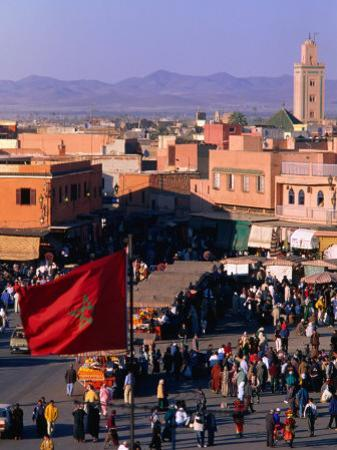 Djemaa El-Fna Square in Old Part of Town, Marrakesh, Morocco