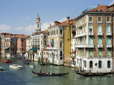 Gondolas and Other Watercraft on Grand Canal