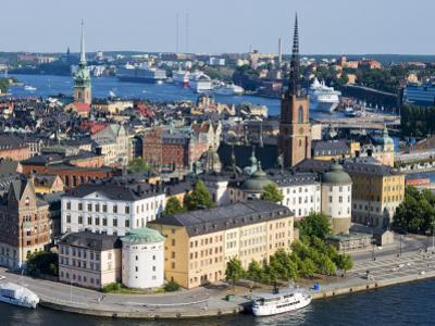 Overlooking Gamla Stan, Old City, from City Hall Tower