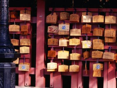Plaques Lining Walls of Fushimi Inari Shrine in Kyoto, Kyoto, Kinki, Japan