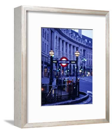 Underground Station Sign, London, United Kingdom, England