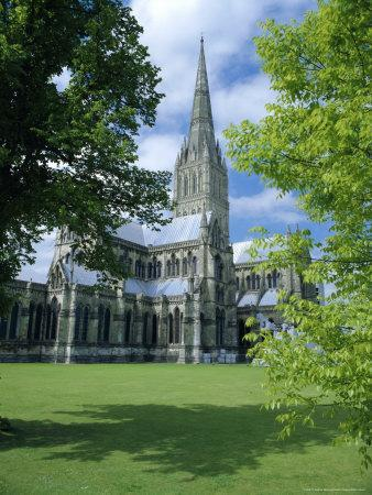 Salisbury Cathedral (Tallest Spire in England), Wiltshire, England