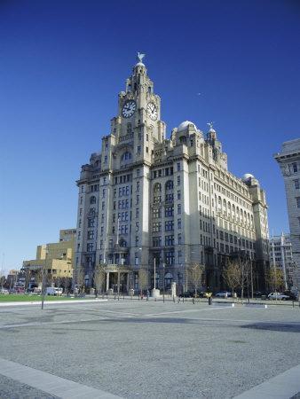 The Liver Building, Pier Head, Liverpool, Merseyside, England, UK