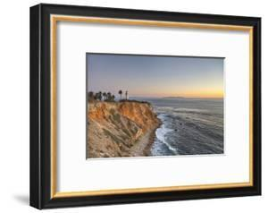 USA, California, Ranchos Palos Verdes. The lighthouse at Point Vicente at sunset. by Christopher Reed