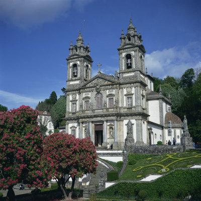 18th Century Bom Jesus Do Monte Church in the City of Braga in the Minho Region, Portugal