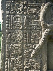 Mayan Stela J, Dating from 756 AD, Quirigua, Unesco World Heritage Site, Guatemala, Central America by Christopher Rennie