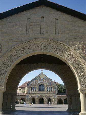 Memorial Church in Main Quadrangle, Stanford University, Founded 1891, California