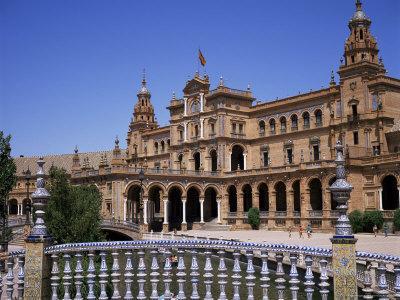 Plaza De Espana, Built for the 1929 World Fair, Maria Luisa Park, Seville, Andalucia, Spain