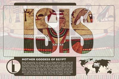 Isis World Mythology Poster