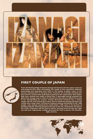 Izanagi and Izanami World Mythology Poster