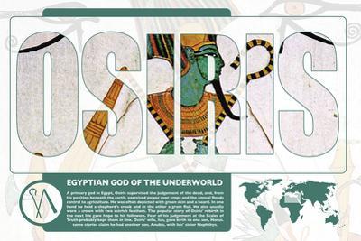 Osiris World Mythology Poster