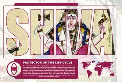 Shiva World Mythology Poster