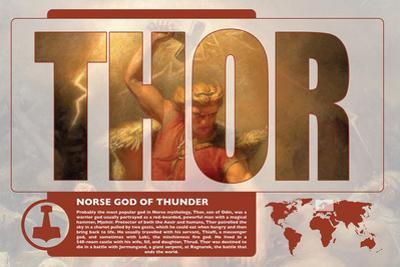 Thor World Mythology Poster