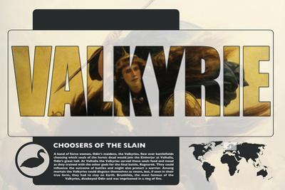Valkyrie World Mythology Poster