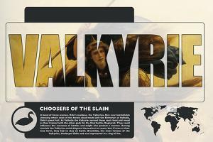 Valkyrie World Mythology Poster by Christopher Rice