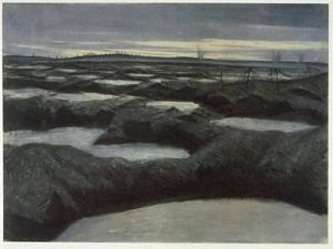 After a Push, from British Artists at the Front, Continuation of the Western Front, 1918 by Christopher Richard Wynne Nevinson