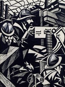 La Mitrailleuse by Christopher Richard Wynne Nevinson