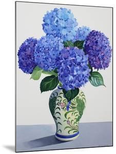 Blue Hydrangeas by Christopher Ryland