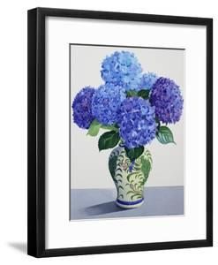 Blue Hydrangeas by Christopher Ryland