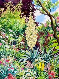 Garden with Flowering Yucca by Christopher Ryland