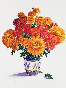 October Chrysanthemums by Christopher Ryland