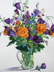 Orange and Purple Flowers by Christopher Ryland