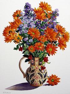 Orange Chrysanthemums by Christopher Ryland