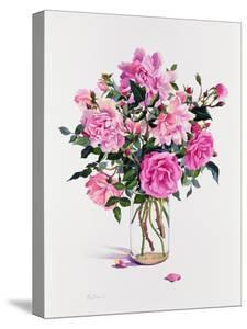 Roses in a Glass Jar by Christopher Ryland
