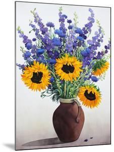 Summer Flowers in Brown Jug by Christopher Ryland