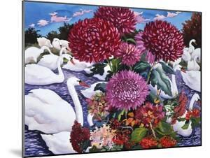 Swans and Chrysanthemums, 2005 by Christopher Ryland