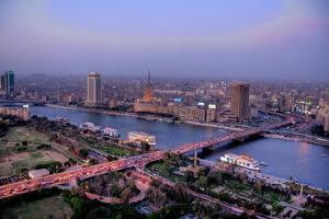 Dusk in Cairo (Hdr) by Christopher S. Rose