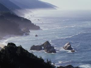 California, Big Sur Coast, Sea Stacks Along the Central Coast by Christopher Talbot Frank