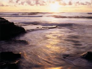 California, San Diego, Sunset Cliffs, Sunset over the Ocean by Christopher Talbot Frank