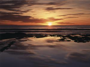 California, San Diego, Sunset Cliffs, Sunset over Tide Pools by Christopher Talbot Frank